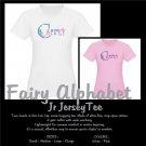 FAIRY ALPHABET | personalizable jr jersey tee