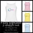 FAIRY ALPHABET | personalizable jr spaghetti tank