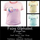 FAIRY ALPHABET | personalizable jr ringer tee