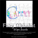 FAIRY ALPHABET | personalizable 30piece puzzle