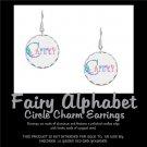 FAIRY ALPHABET | personalizable circle charm earrings