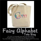 FAIRY ALPHABET | personalizable tote bag