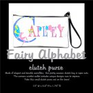 FAIRY ALPHABET | personalizable clutch bag