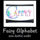 FAIRY ALPHABET | personalizable mini leather wallet