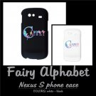 FAIRY ALPHABET | personalizable Nexus S phone case