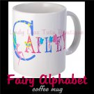 FAIRY ALPHABET | personalizable coffee mug