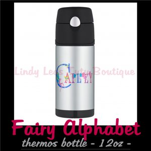 FAIRY ALPHABET | personalizable thermos 12oz bottle