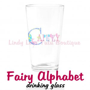 FAIRY ALPHABET | personalizable drinking glass