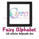 FAIRY ALPHABET | personalizable tile keepsake box
