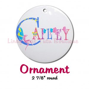 FAIRY ALPHABET | personalizable round porcelain ornament