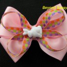 Baby Toddler Girls Spring Easter Bunny Pink Hair Bow Clip