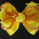 Baby Toddler Girls Spring Easter Chick Yellow Hair Bow Clip