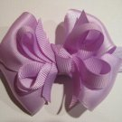 Lavender Infant Baby Girls Small Layered Boutique Hair Bow Headband