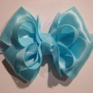 Ocean Blue Infant Baby Girls Small Layered Boutique Hair Bow Headband
