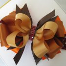 Girls Fall Thanksgiving Boutique Hair Bow Crochet Headband