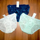 """3 Pastel White, Mint, Blue.Classic Bikini Nylon panties hip 29-33"""", Lingerie."""