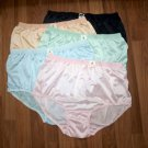 5 CLASSIC & VINTAGE STYLE BRIEFS NYLON PANTIES, WOMENS HIP 45-48, SOFT & SHEER