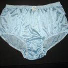 1960's CLASSIC & VINTAGE STYLE BRIEFS NYLON PANTIES, WOMENS HIP 45-48, SOFT & SHEER BLUE
