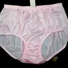 NWT. VINTAGE STYLE BRIEFS NYLON PANTIES, WOMEN&#39;S HIP 40-42, PINK, SOFT PANTY