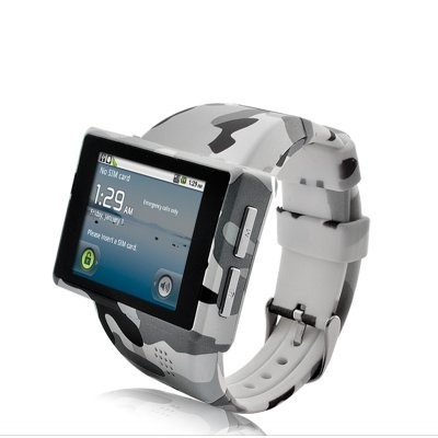 "Android Phone Watch 2"" Capacitive Screen 8GB Micro SD Camera (Camouflage)"