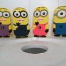 4 Pcs Set of Your Favorite Minions (new Style 3D With Fake hair) Fits The Iphone 6 (4.7)
