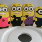 4 Pcs Set of Your Favorite Minions (new Style 3D With Fake hair) Fits The Iphone 6 (5.5)