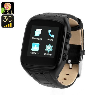 iMacwear M8 Watch Phone.  Watch all your pictures and videos in stunning quality.  (Black)