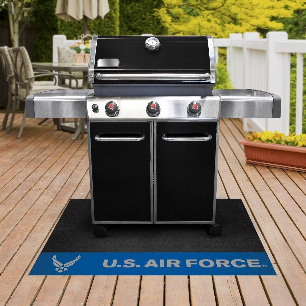 U.S Air Force BBQ Grill Mat 26 inches x 42 inches Irritate Your Rival Service members.