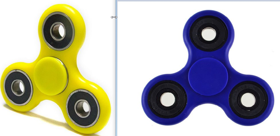 2 PCS Fidget Toys One Blue & One Yellow Spinner. ADHD, Anxiety, Autism. Boredom, and more.