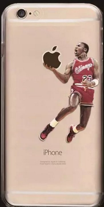 Soft Cell Phone Cases Fits Iphone 6 and Iphone 7. Featuring M. Jordan NBA.