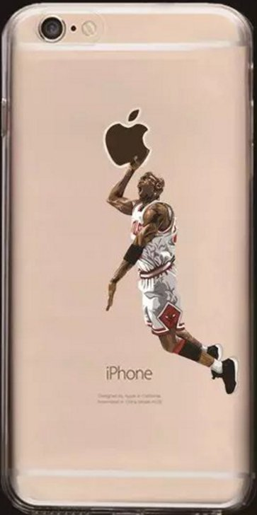 Soft Cell Phone Cases Fits Iphone 6 and Iphone 7. Featuring Michael J NBA.