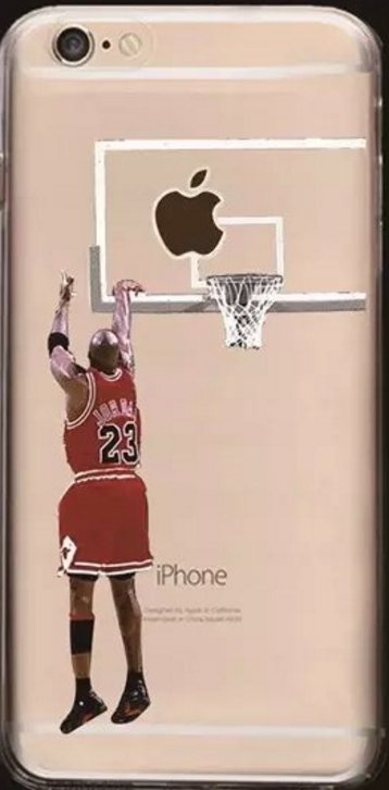 Clear Soft Cell Phone Cases Fits Iphone 6 and Iphone 7. Featuring Michael J NBA.