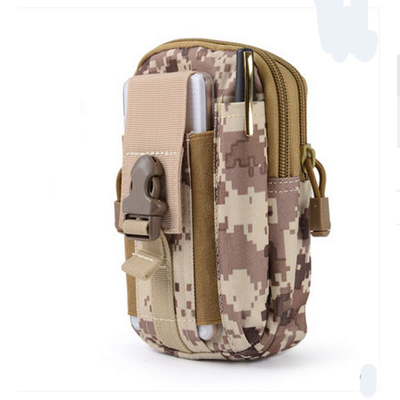 Desert Digital Military Inspired Bag.Compatible with Various Cell Phones, Knives, Flashlights,.
