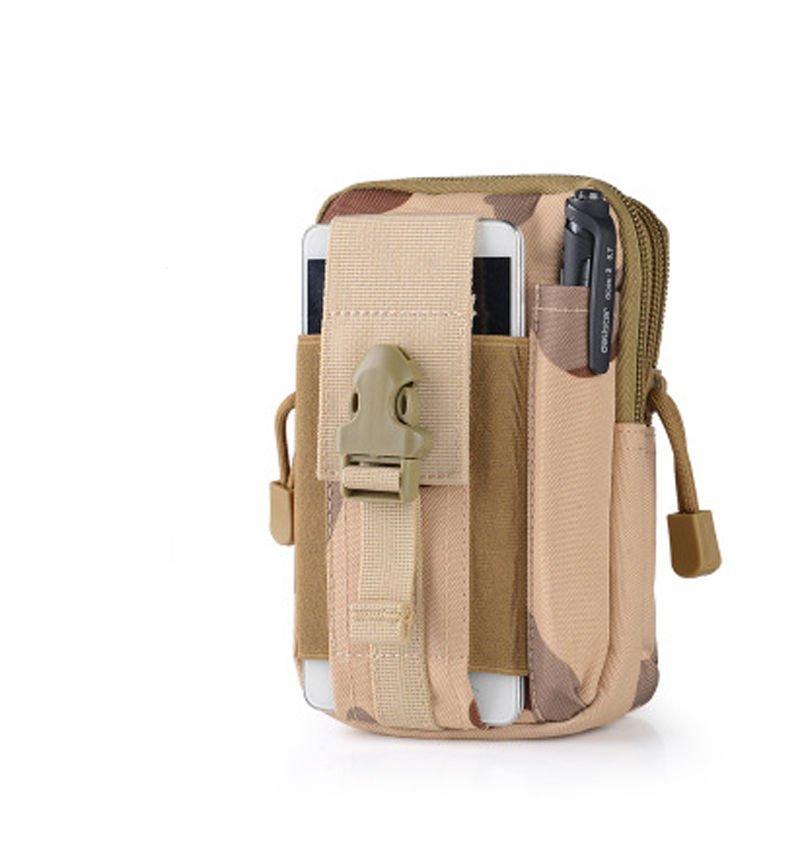 Desert Camo Military Inspired Bag.Compatible with Various Cell Phones, Knives, Flashlights...