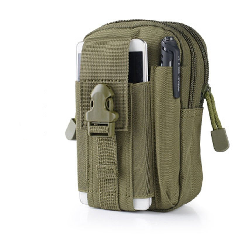 Olive Drab Military Inspired Bag. Compatible with Various Cell Phones, Knives, Flashlights...