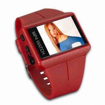 MP 167A  - MP4 Watch with USB Adapter Cable and Stereo Earphones  256MB