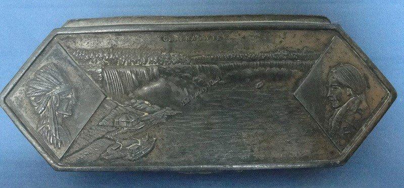 Niagara Falls Souvenir Metal Box Case Vintage Rare