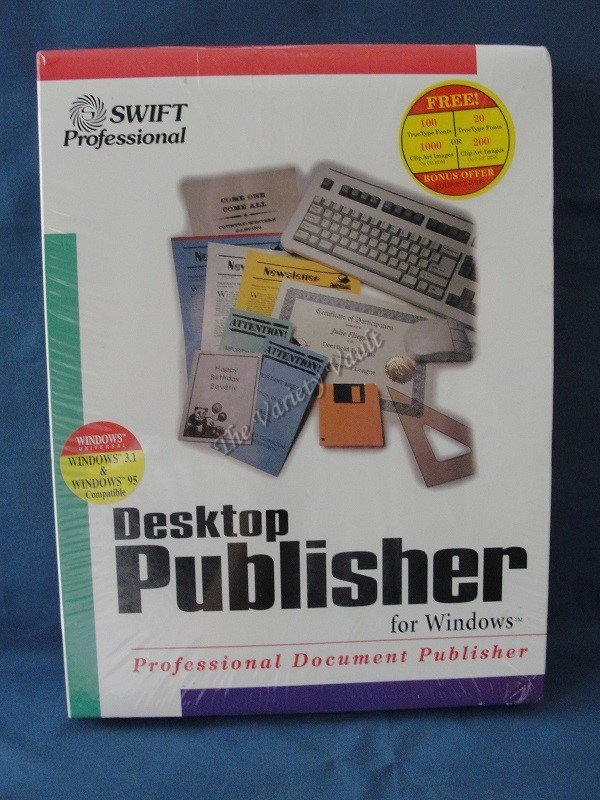 Desktop Publisher for Windows New Sealed Vintage