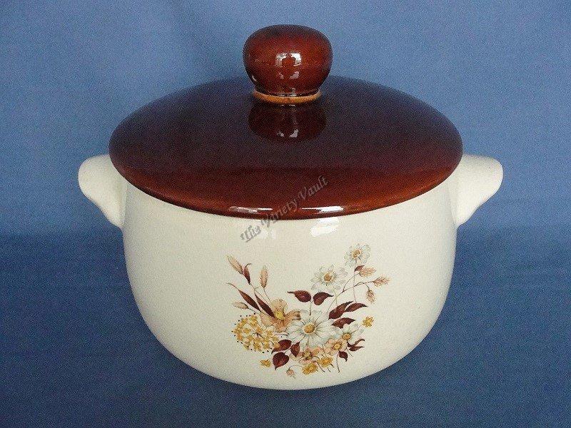 Stoneware Oven Proof  Bean Pot Casserole Dish Dinnerware