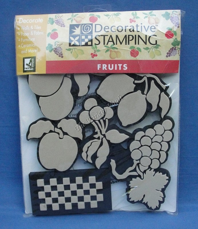 Decorative Stamping Fruits Rubber Stampede New