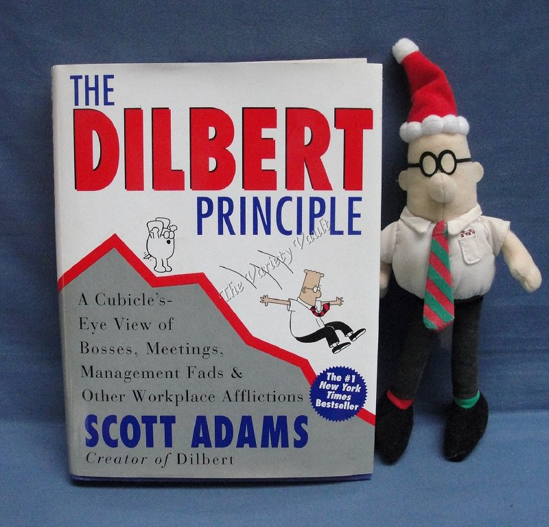 The Dilbert Principle Scott Adams Includes stuffed Dilbert