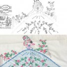 Southern Belle pillowcase applique & embroidery transfer pattern Wonderart 420