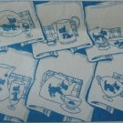 Scottie Dog Towels embroidery transfer pattern LW2890