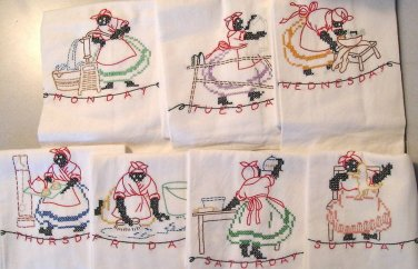 Black Americana Mammy DOW transfer embroidery pattern Su106