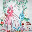 Crinoline Lady Arbor embroidery transfer pattern Deighton1511