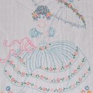 1920's Southern Belle BEDSPREAD embroidery transfer pattern RS12