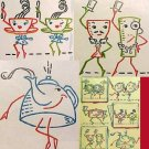 Dancing Dishes kitchen TOWEL embroidery transfer pattern Mc1478