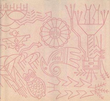 wbm transfer Aztec people,sun,birds,corn,symbols #2