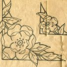 1940s Rose Corners embroidery transfer Original