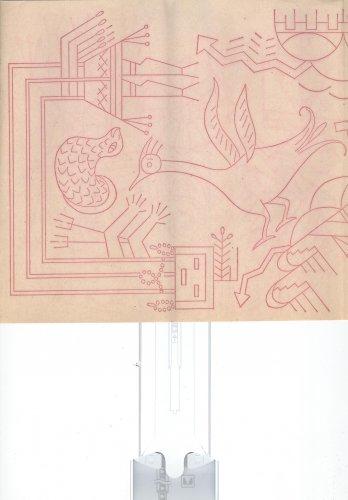 wbm transfer Aztec symbols,birds,sun
